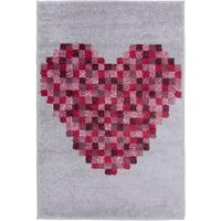 Love Heart Pixel Rug 80 x 120 cm