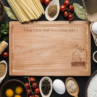 Watership Down Clover Rectangle Wooden Chopping Board
