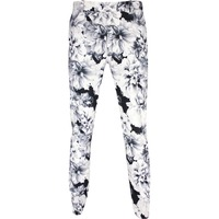 G/FORE Golf Trousers - Printed Floral Pant - Snow SS20