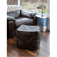 Faux Leather Brown Bean Cube