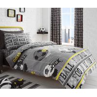Grey, Football Themed Bed Set