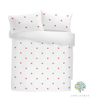 Tufted Star Bed Sets, Pink - 100% Cotton