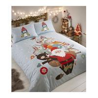 Father Christmas Single Duvet - Fur Tree