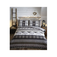 Aspen Nordic Christmas Bedding, Charcoal - 100% Brushed Cotton
