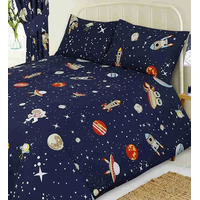 Space Rocket and Planets Duvet Covers