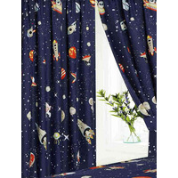 Space Rocket and Planets Curtains