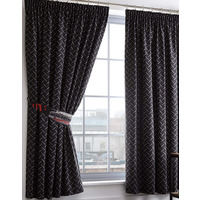 Toxic Glow in the Dark Black and Grey Curtains