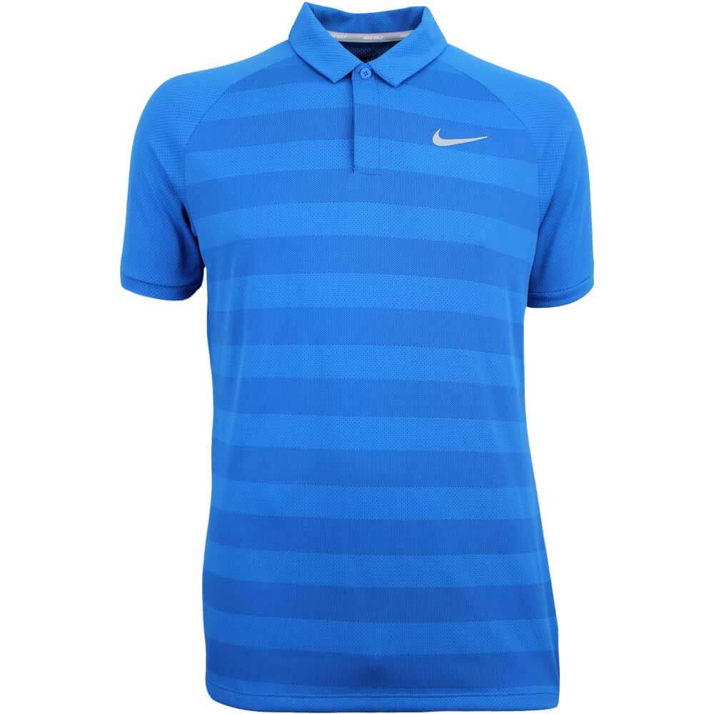 db4aa6b2c Nike Golf Shirt - Zonal Cooling Stripe - Blue Nebula SS18