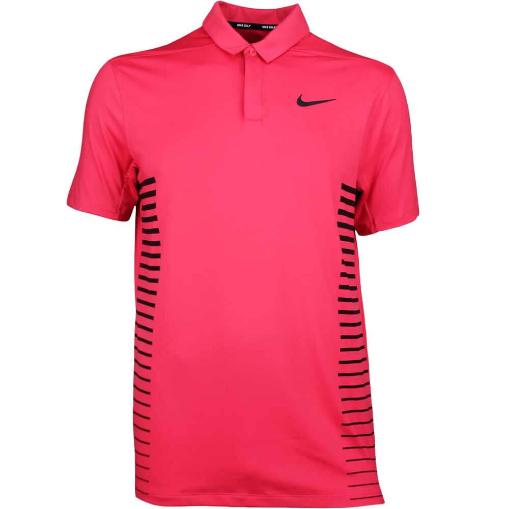 ecf2ba92 Nike Golf Shirt - NK Dry Print - Tropical Pink SS18