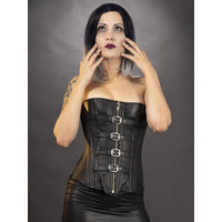 Shopping image of Leather Fantasy Corset Available at fetish-kinks.com