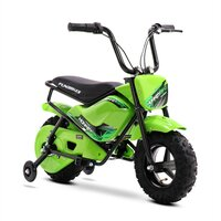 FunBikes MB 43cm Motorbike 250w Green Electric Kids Monkey Bike
