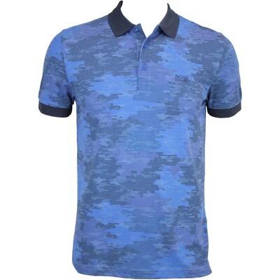 Hugo Boss Paddy 4 Camo Golf Shirt Olympian Blue FA15