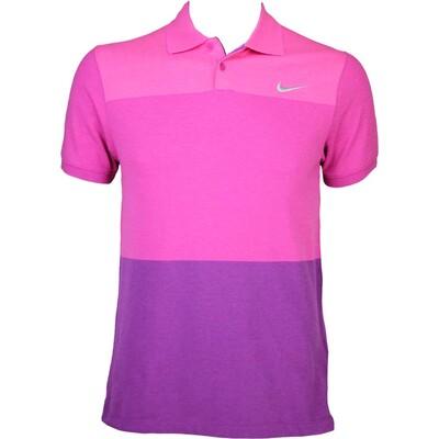 Nike MDRN Fit Transition Block Golf Shirt Sport Fuchsia AW15