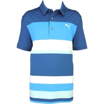 Puma Junior Road Map Golf Shirt Poseidon AW15