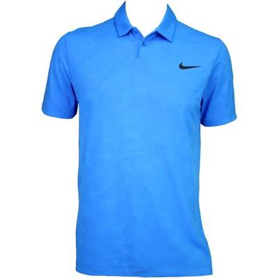 Nike Modern Mobility Camo Jacquard Golf Shirt Photo Blue AW15
