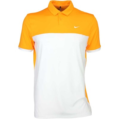 Nike Golf Shirt Icon Colour Block Vivid Orange SS16
