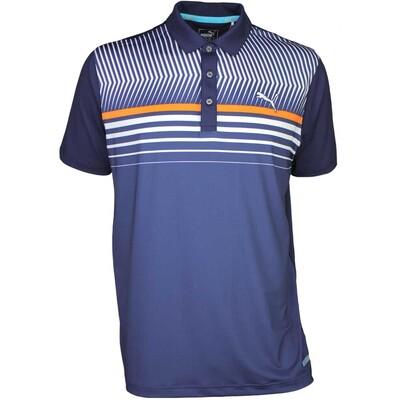 Puma Golf Shirt Surface Stripe Peacoat SS16