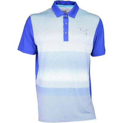 Puma Golf Shirt Brushstripe Surf the Web SS16