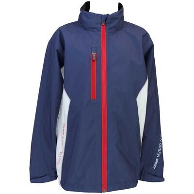 Galvin Green Junior Waterproof Golf Jacket Richie Indigo