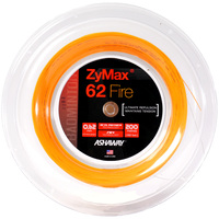 Ashaway Zymax 62 Fire Badminton String - 200m Reel - Orange