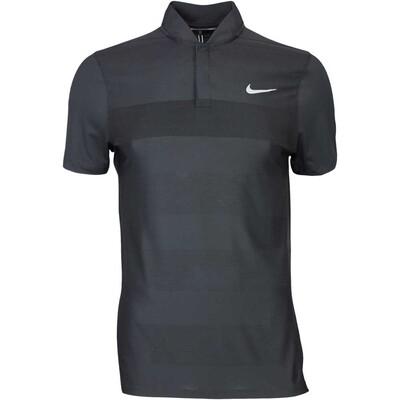 Nike Golf Shirt MM Fly BLADE Stripe Alpha Black AW16