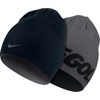 Nike Golf Beanie Reversible Knit Black Dark Grey AW16