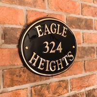 Brass Oval House Sign 33 x 25cm