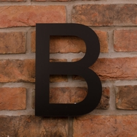 25.5cm Tall Laser Cut Acrylic House Letter B
