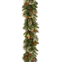 Wintry Pine PVC Artificial Christmas Garland 9ft by National Trees