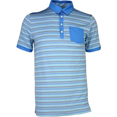 Puma Golf Shirt Tailored Pocket Stripe French Blue SS17