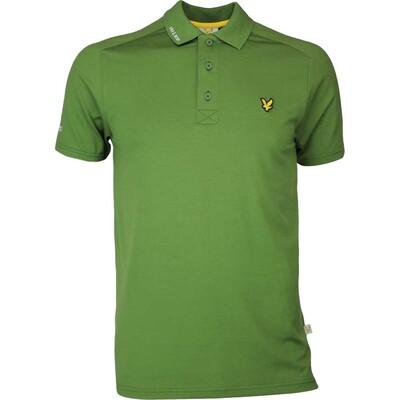 Lyle Scott Golf Shirt Hawick Tech Tour Cedar Green SS17