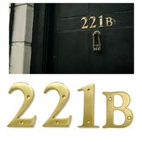 221B Sherlock Holmes Address in 10cm Brass Numbers