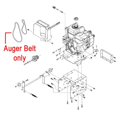 Stiga Stiga 1812-2409-01 Drive Belt Auger for the Stiga Pro 1171 and 1381 HST