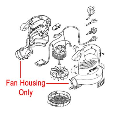 Stihl Stihl Fan Housing for Electric Blower 4811 700 4111