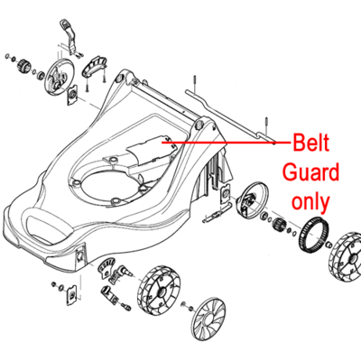 Mountfield Mountfield Belt Protection Guard 322060245/0