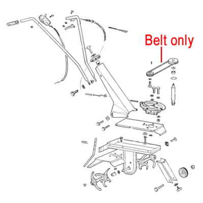 AL-KO AL-KO Cultivator Drive Belt XPZ630 P109321005184