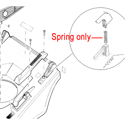 Hayter Hayter Height Adjust Trigger Spring 300067