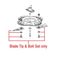 Masport 485mm Swing Tip Blade (Pair) & Bolt Set 783529