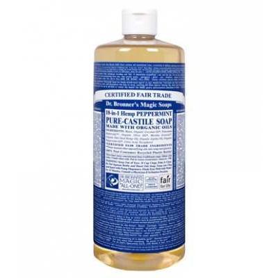 Dr Bronner's Peppermint Castile Liquid Soap 946ml