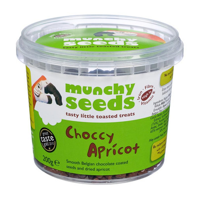 Munchy Seeds Choccy Belgian Chocolate Mix with Apricot 200g