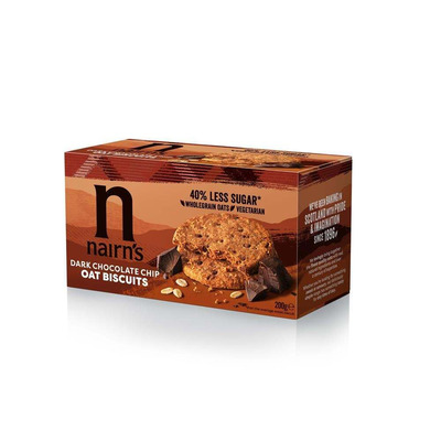 Nairn's Dark Chocolate Chip Oat Biscuits 200g