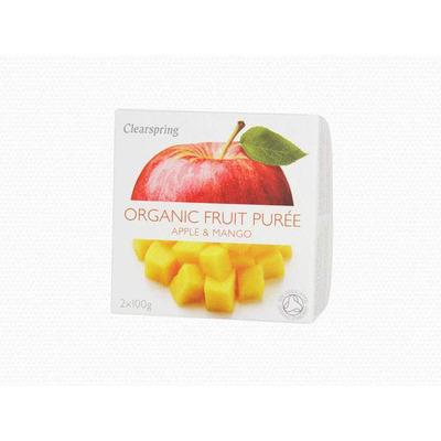 Clearspring Organic Fruit Purée Apple & Mango 2 x 100g