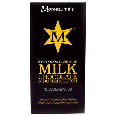 Montezumas Organic 54% Cocoa Milk Chocolate & Butterscotch Bar 100g