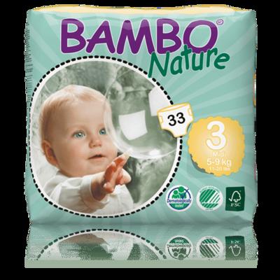 Bambo Nature Midi Nappies - Size 3