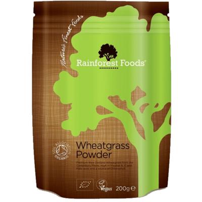 Rainforest Foods Organic New Zealand Wheatgrass Powder 200g