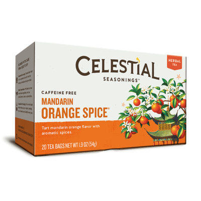 Celestial Seasonings Mandarin Orange Spice Herbal Tea 20 Bags