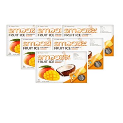 Smooze Fruit Ice Mango & Coconut Lollies - Pack of 6