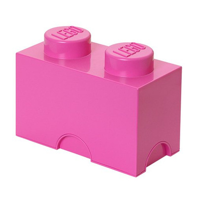 Lego Storage Brick 2 Medium Pink