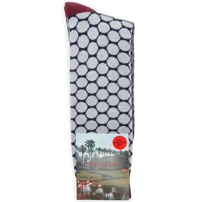 Ted Baker Golf Socks Two Tone Spot Grey SS17