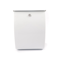All Weather White Plastic Letterbox - personalised with your address